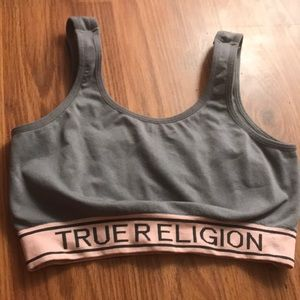 662829538d True religion sports bra SIZE EXTRA SMALL
